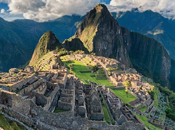 Machu Picchu mountains in Peru