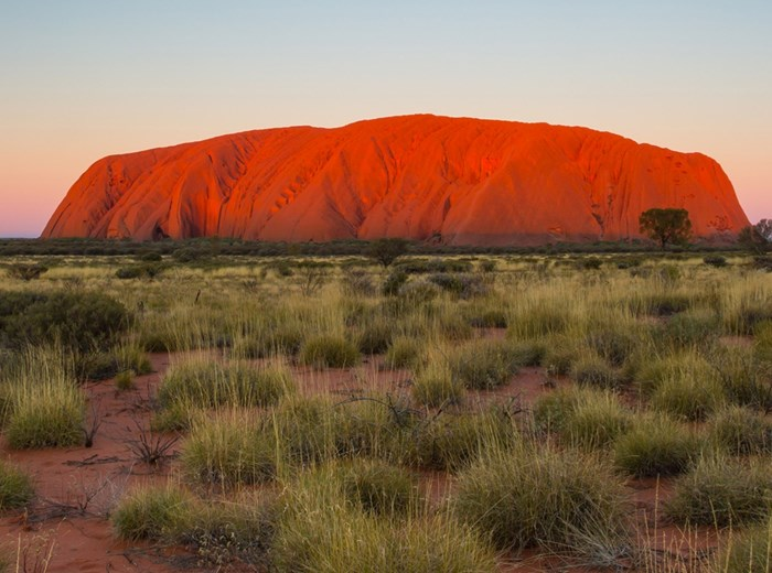 Big Red Rock sunset in Uluru Australia