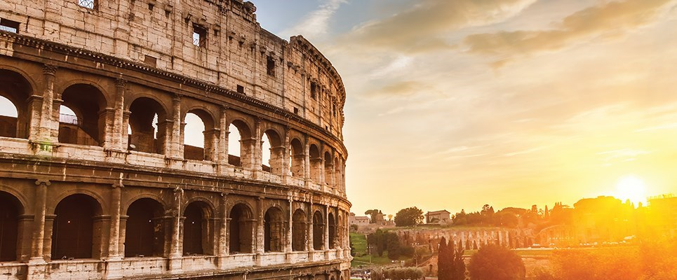 Sunset at the Colosseum in Rome